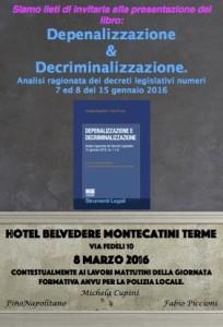 """presentazione libro """"depenalizzazione e decriminalizzazione"""""""