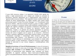 UNIVERSITA' DI SIENA – CORSO DI PERFEZIONAMENTO IN METODI E STRUMENTI PER L'ANALISI E LA GESTIONE DELLA SICUREZZA URBANA